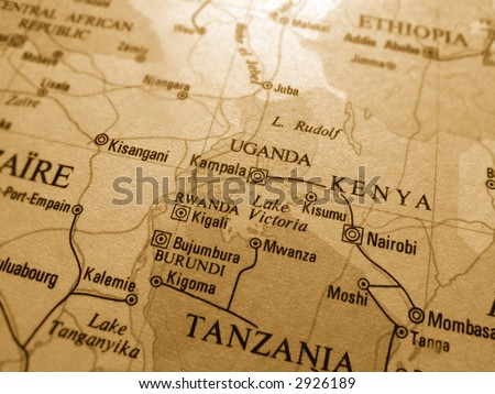 uganda - stock photo