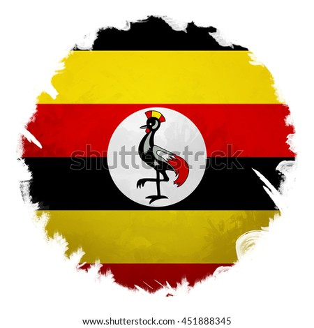 Uganda flag, digital art effect.