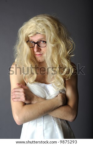 ugly bride - stock photo