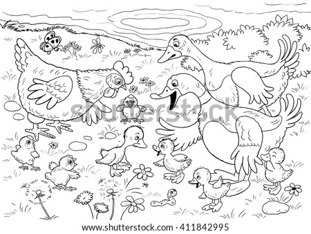 the ugly duckling coloring pages - ugly duckling stock images royalty free images vectors