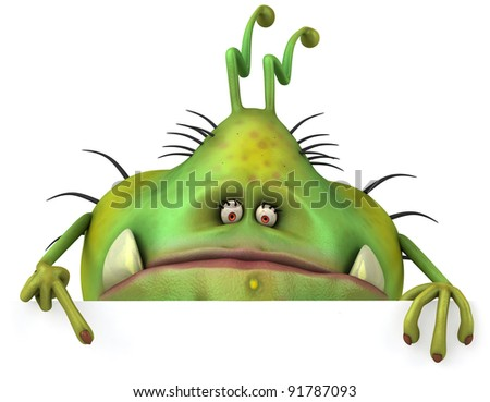 Ugly germ - stock photo
