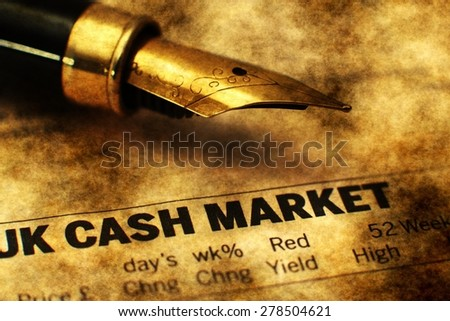 UK cash market - stock photo