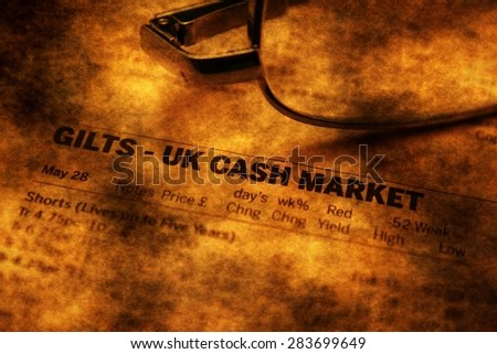 UK cash market report - stock photo