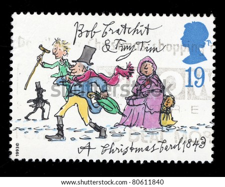 UK - CIRCA 1993: A stamp printed in United Kingdom shows image of the dedicated to the Christmas, circa 1993. - stock photo