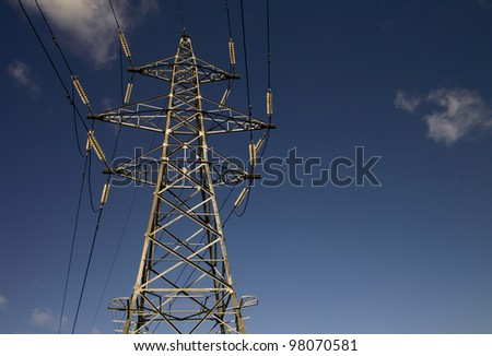UK Electricity Pylon ( Transmission Tower ) - stock photo