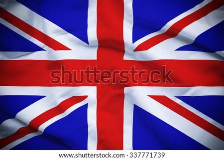 UK Flag - stock photo