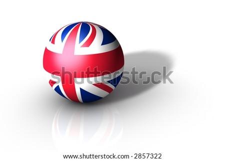 UK Flag Globe - stock photo