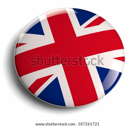 UK flag icon. Clipping path included. - stock photo