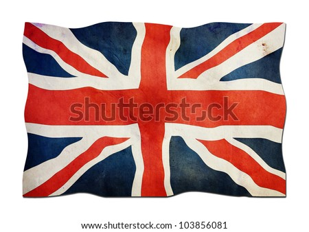UK Flag made of Paper - stock photo