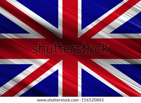 UK flag waving in the wind with some folds