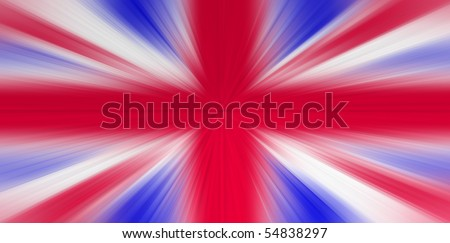 UK flag with zoom - stock photo