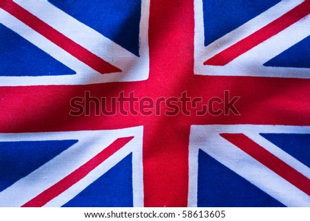 UK national flag, Europe, possible use to background - stock photo