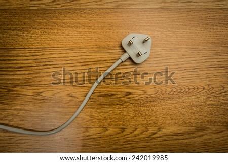 uk power plug  - stock photo