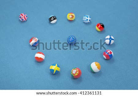 UK referendum on the exit from the European Union. 3d illustration 8 - stock photo