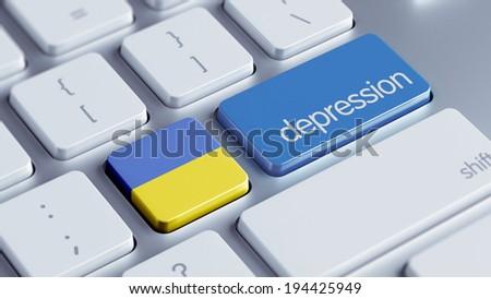 Ukraine High Resolution Depression Concept - stock photo