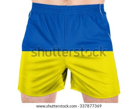 Ukraine. Ukrainian flag  - stock photo