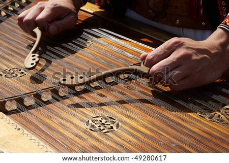 Ukrainian dulcimer - stock photo