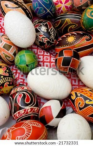 "Ukrainian Easter Eggs - ""pysanky"". Handwork - stock photo"