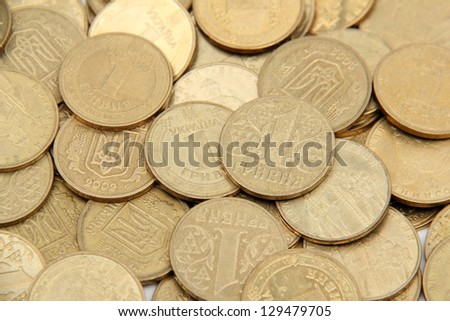 Ukrainian hryvnia/Background of the Ukrainian money - stock photo