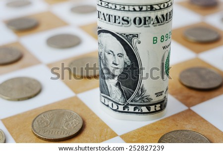 Ukrainian hryvnia on the chessboard