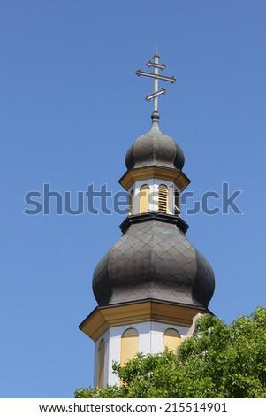 Ukrainian orthodox church, Winnipeg, Manitoba, Canada - stock photo