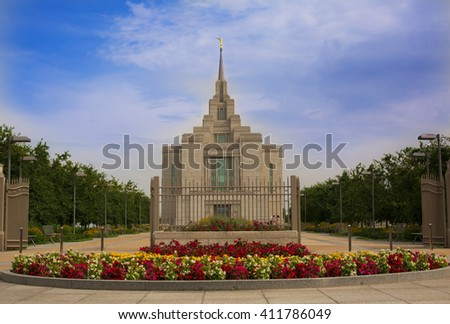 Ukrainian Temple of The Church of Jesus Christ of Latter day Saints - stock photo