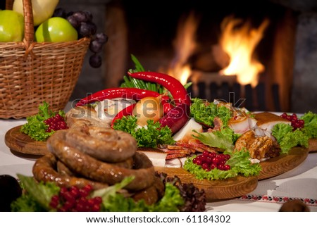 ukrainian traditional meal - stock photo