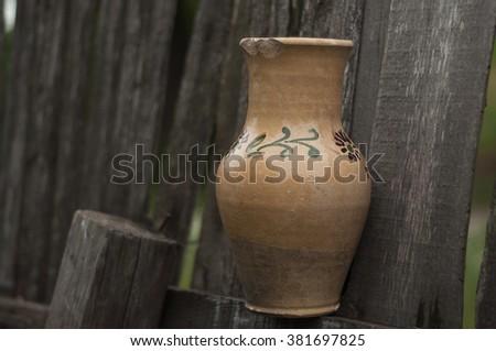 Ukrainian village - stock photo