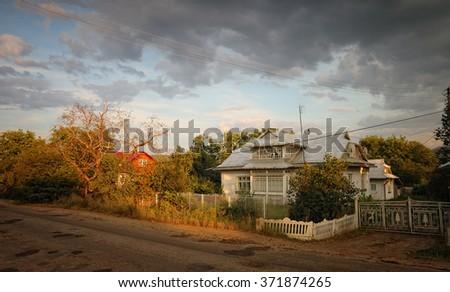 Ukrainian village house - stock photo