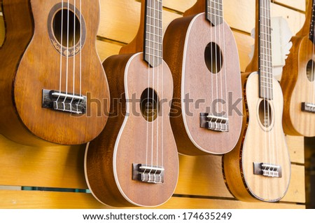 Ukulele guitar - stock photo