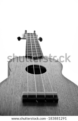 ukulele guitar isolated on white background - stock photo