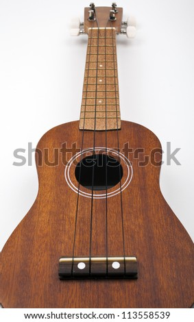 Ukulele on a white background.