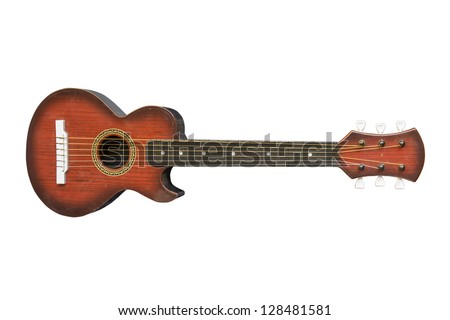 ukulele on isolated background. - stock photo