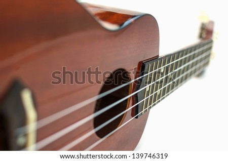Ukulele strings with isolated on white
