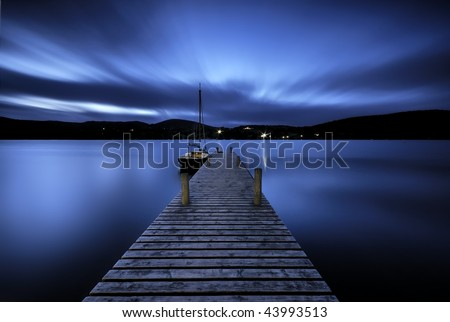 Ullswater Jetty - stock photo