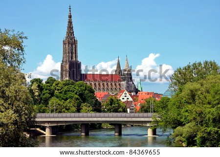 Ulm, the highest spire of the world - stock photo