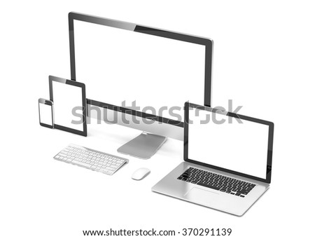 Ultimate web design, laptop, smartphone, tablet, computer, display