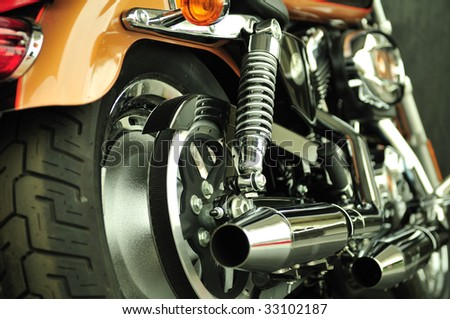 Ultra clean motorbike - stock photo