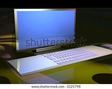 Ultra modern computer - stock photo