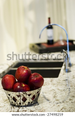 ultra modern  kitchen - stock photo