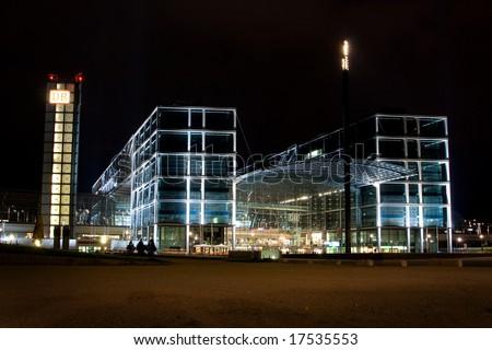 Ultra modern railway station in Berlin, Europe - stock photo