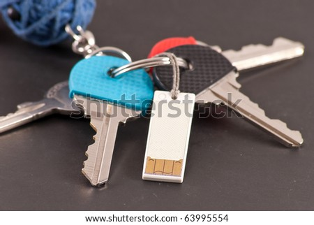 Ultra Portable USB Flash Drive on Key Ring