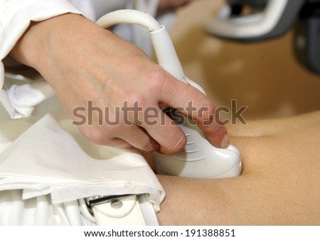 Ultra sound examination  - stock photo