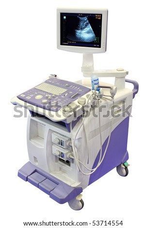 Ultrasonic scanner for medical examination - stock photo