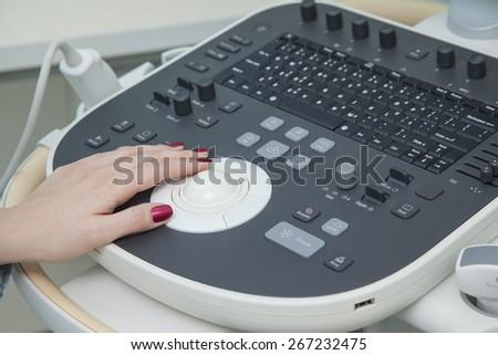Ultrasound examination - stock photo