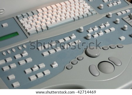 Ultrasound machine closeup in hospital or clinic or healthcare facility - stock photo