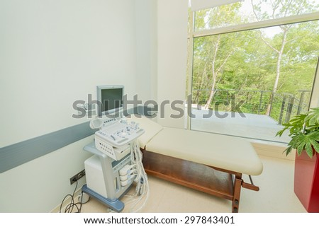 Ultrasound scanning equipment in the hospital - stock photo