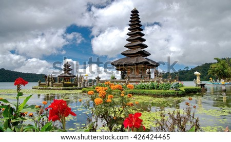 Ulun Danu Beratan - stock photo