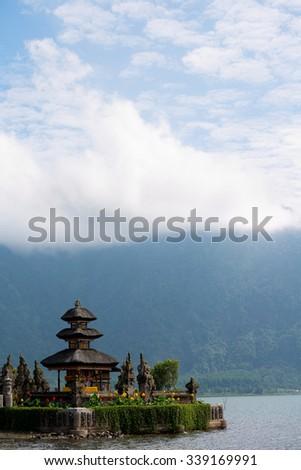 Ulun Danu Beratan temple in Bali, Indonesia - stock photo