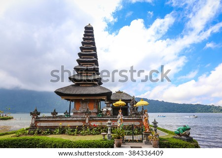 Ulun Danu Temple in Bali Island - stock photo